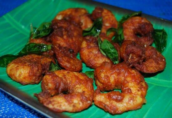 eral varuval - Eral Varuval (South Indian Prawn Fry)