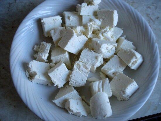 paneer cubes - Paneer Salad