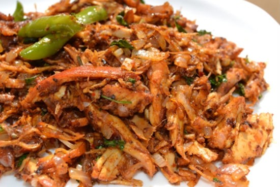 salem pichu potta kozhi varuval - Shredded Chicken Fry