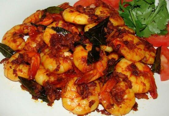 andhra prawn fry - Andhra Prawn Fry
