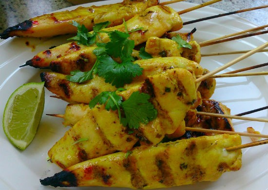 thai chicken satay 1 - Thai Chicken Satay