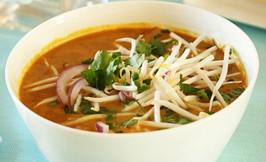 thai red curry chicken noodle soup - Thai Red Curry Chicken Noodle Soup