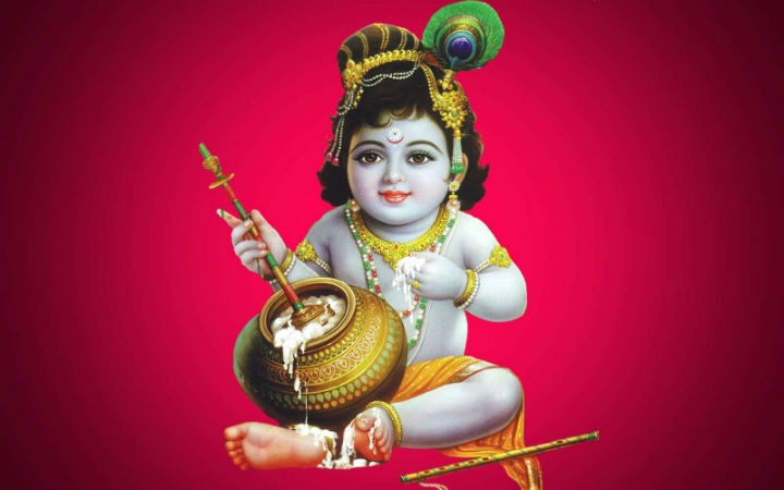 Baby Krishna with Butter