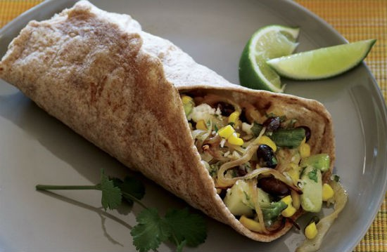 Zucchini and Corn Burritos