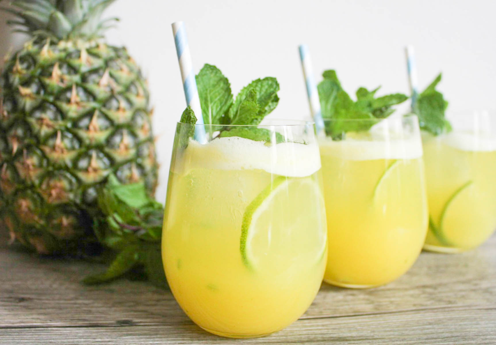 Pineapple Mint Sparkler