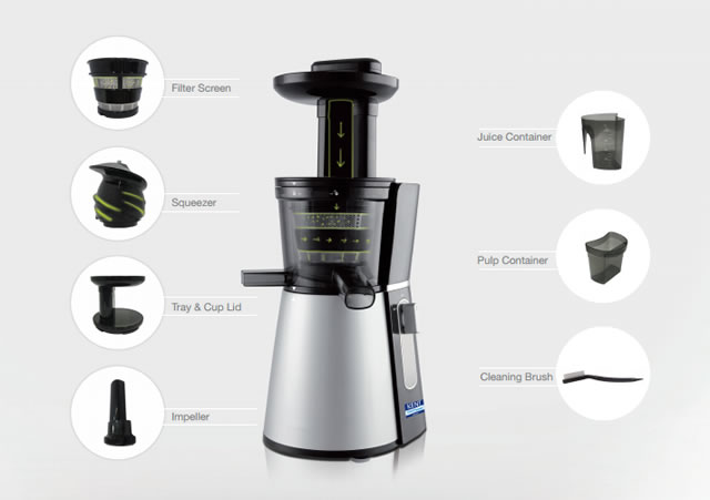 KENT Cold Pressed Juicer with Components Explained