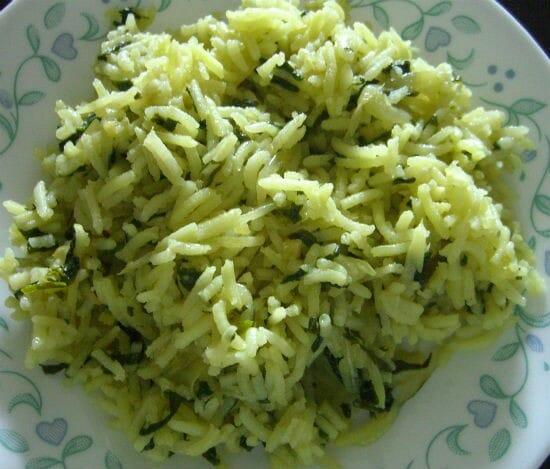 Plain Spinach Pulao