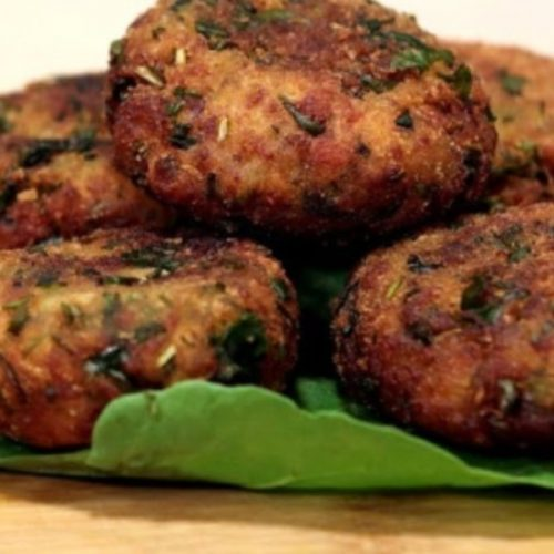 Spinach and Potato Cutlet