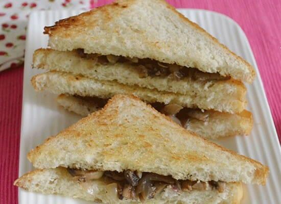 mushroom paneer sandwich - Mushroom Paneer Sandwich