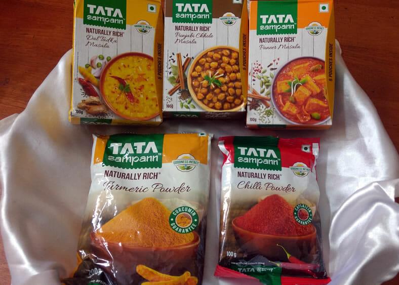 tata samponn packets - Tata Sampann Masala Product Review