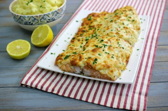 cheesy baked salmon - Cheesy Baked Salmon