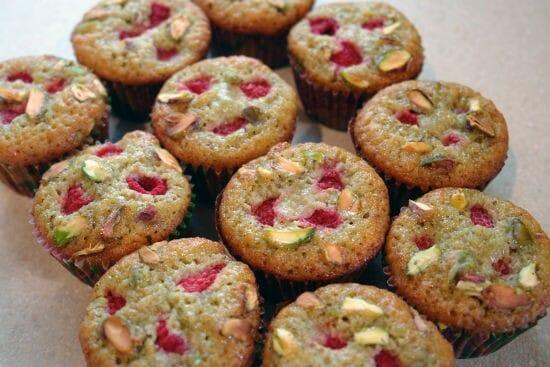 Pistachio and Raspberry Muffins