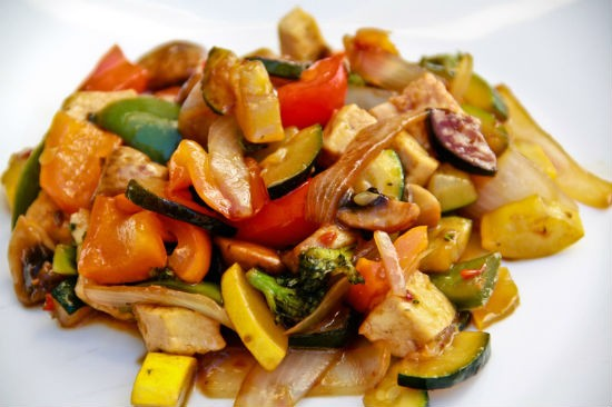 Stir-fried Tofu with Vegetables