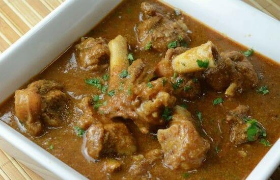 Chettinad Lamb Bone Sambar (Chettinad Elumbu Kuzhambu)