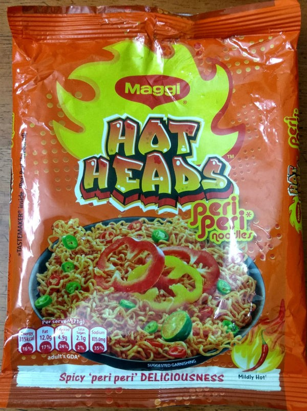 maggi hot heads peri peri - Maggi Peri Peri with Vegetables