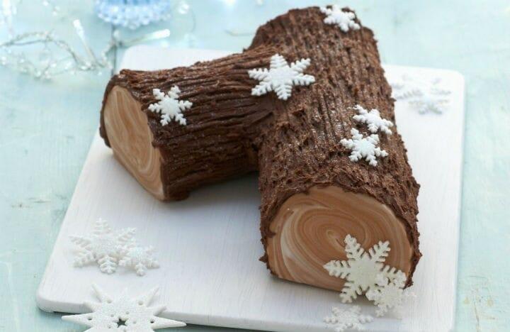 Classic French Chocolate Buche De Noel