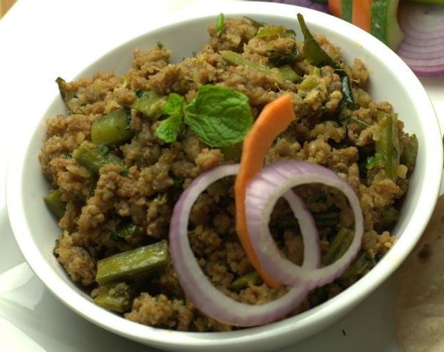 Double Beans Aur Keema (Minced Lamb with Broad Beans)