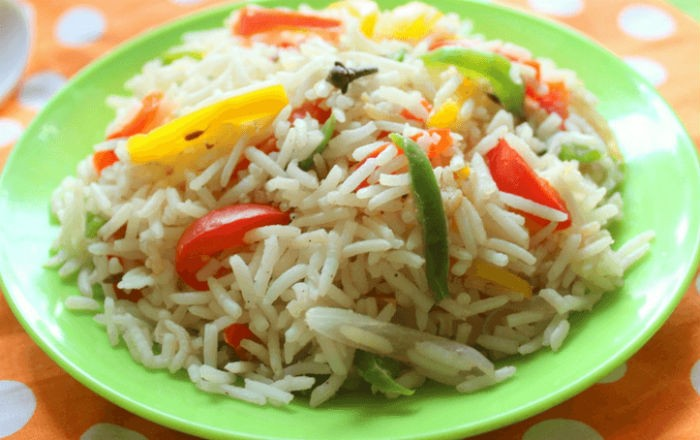 capsicum fried rice - Capsicum Fried Rice