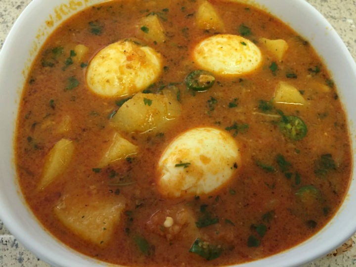 coconut potato egg curry - Coconut Potato Egg Curry