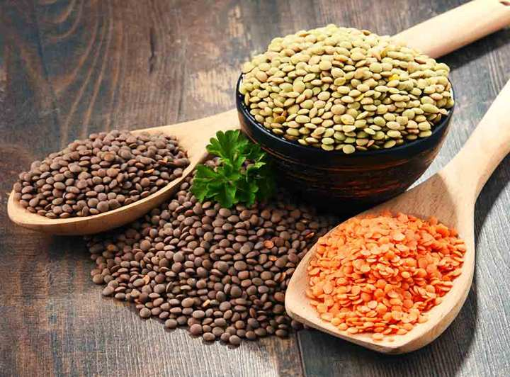 lentils - What vegetarian foods are high in protein?