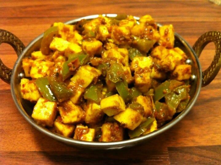 paneer capsicum curry recipe - Paneer Capsicum Curry
