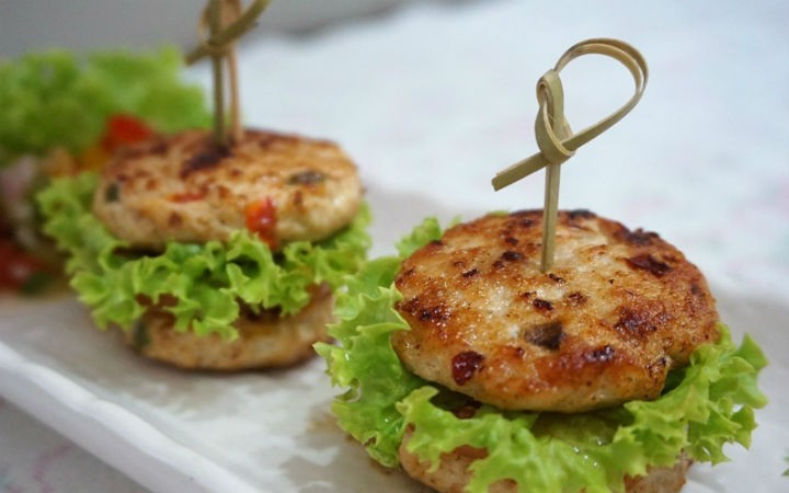 mini chicken burgers - Mini Chicken Burgers