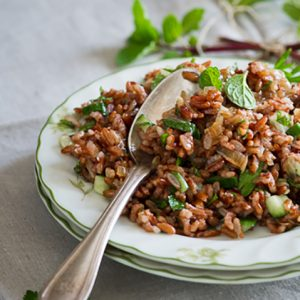 Kullakar Rice Salad / Red Rice Salad