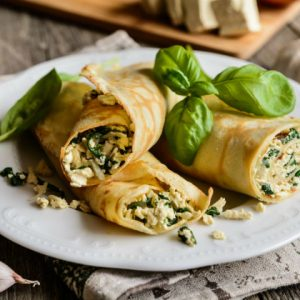 Spinach and Paneer Crepes