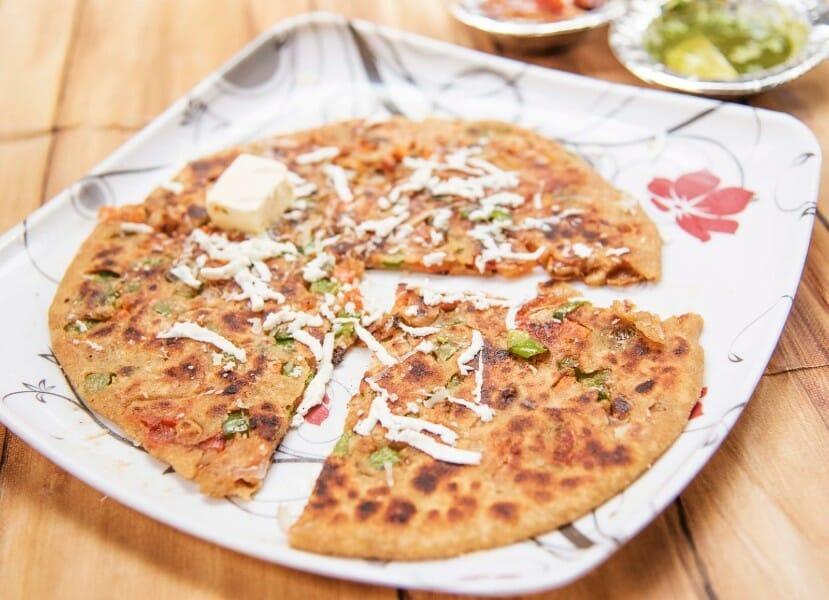 pizza paratha - Pizza Paratha