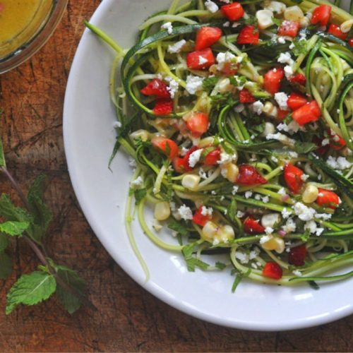 Strawberry and Zucchini Noodle Salad