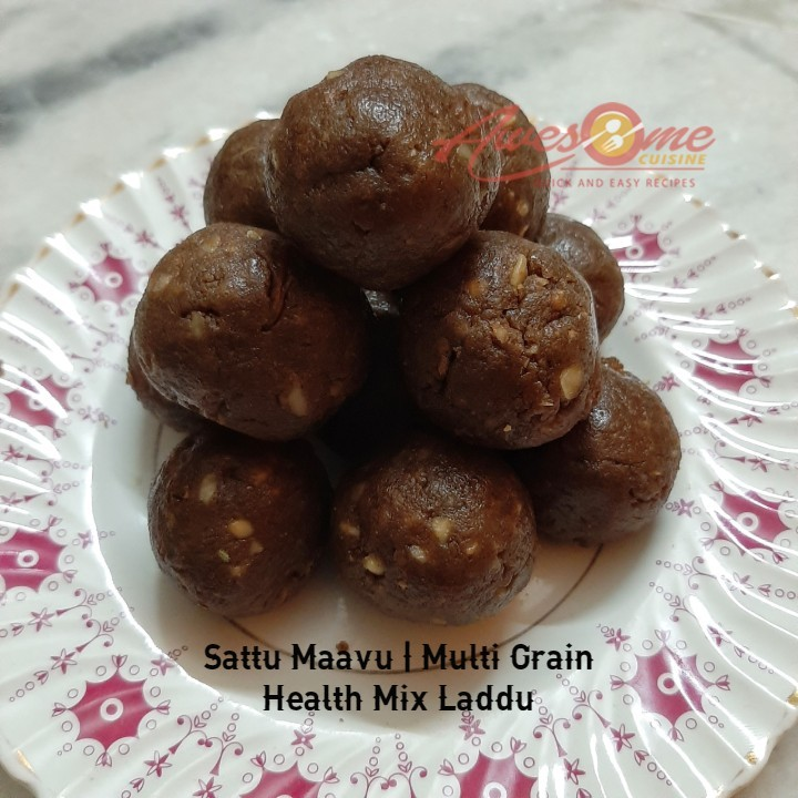 Sattu Maavu Laddu - Sattu Maavu | Multi Grain Health Mix Laddu