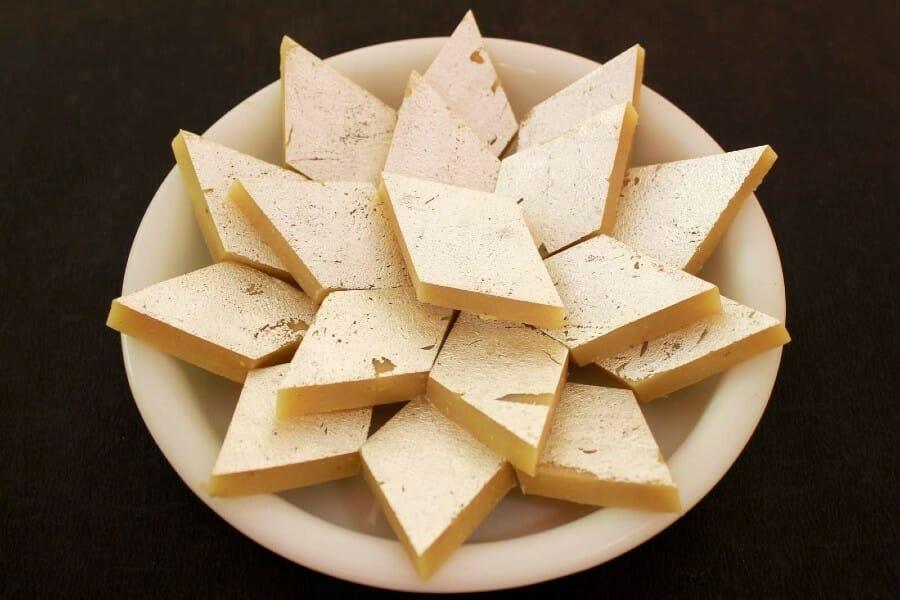 kaju katli - 23 Must Have Diwali Sweets and Snacks