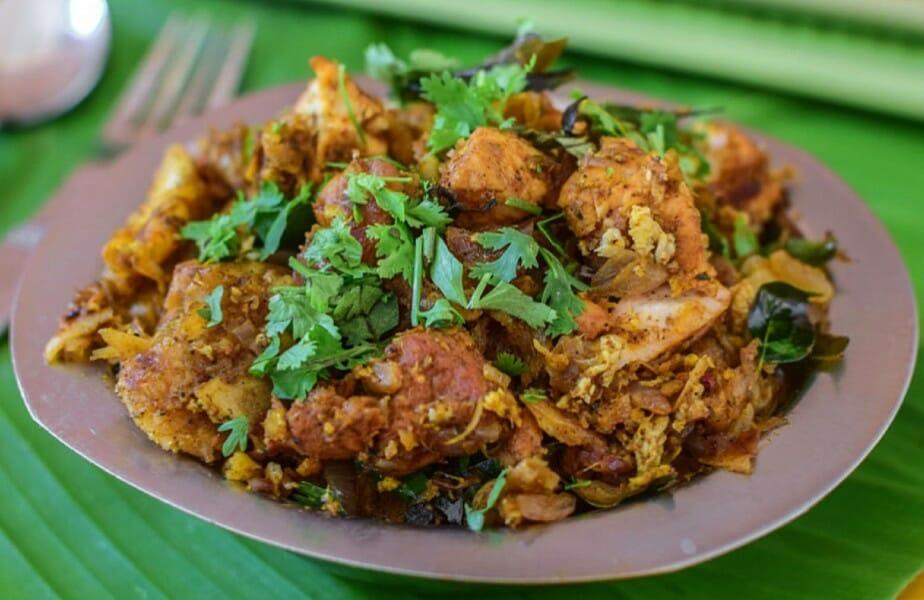 chicken kothu parotta - சிக்கன் கொத்து பரோட்டா