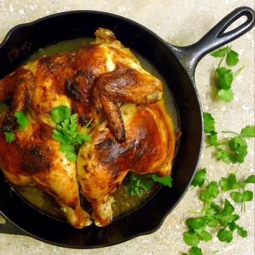 Roasted Chicken with Cardamom