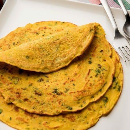 Besan Chilla (Chick Pea Pancakes)