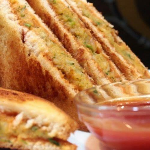 Bombay Masala Veg Sandwich