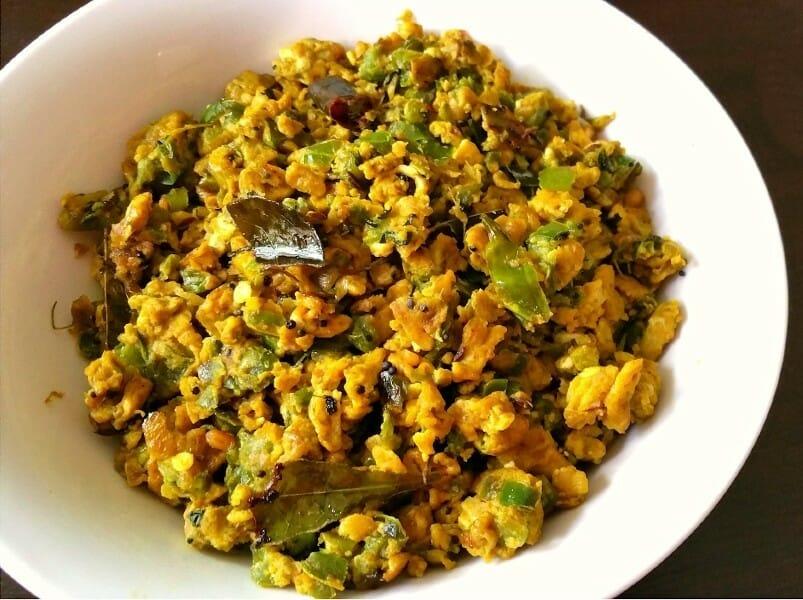capsicum egg podimas - குடை மிளகாய் முட்டை பொடிமாஸ்