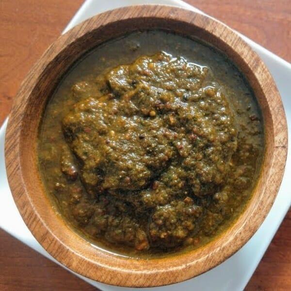 coriander thokku - ஆந்திரா ஸ்டைல் கொத்தமல்லி தொக்கு